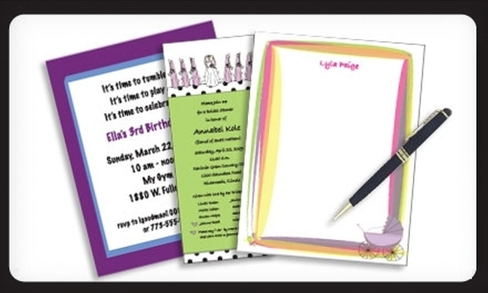 The PaperDoll Store: $25 for $50 Worth of Personalized Stationery and Gifts from The PaperDoll Store