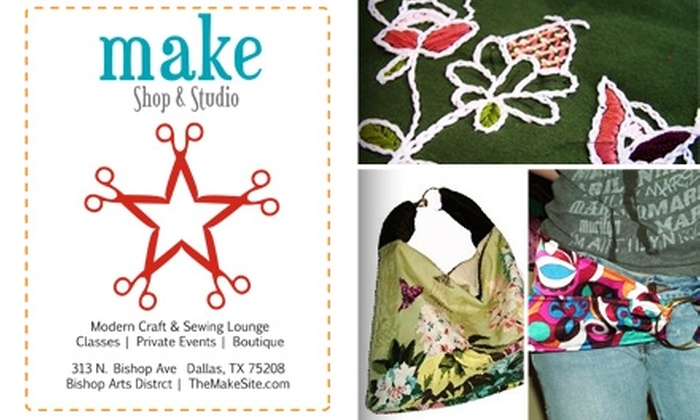 Make Shop & Studio  - Wynnewood North: $25 for $55 Toward Classes at Make Shop & Studio