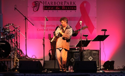HarborPark Jazz & Blues Festival on Sat., Aug. 20 at 2:30PM: Two General-Admission Lawn Tickets - HarborPark Jazz & Blues Festival in Kenosha