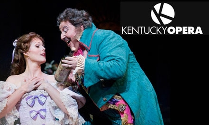 "Kentucky Opera - Central Business District: $80 for Two Tickets to Kentucky Opera's ""The Elixir of Love"" ($160 Value). Choose Between Two Dates."