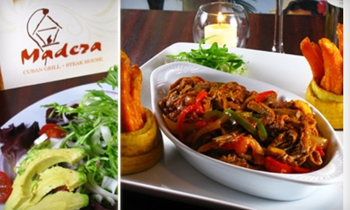 Madera Cuban Grill and Steakhouse - Hunters Point: $10 for $20 Worth of Cuban Cuisine and Drinks at Madera Cuban Grill and Steakhouse