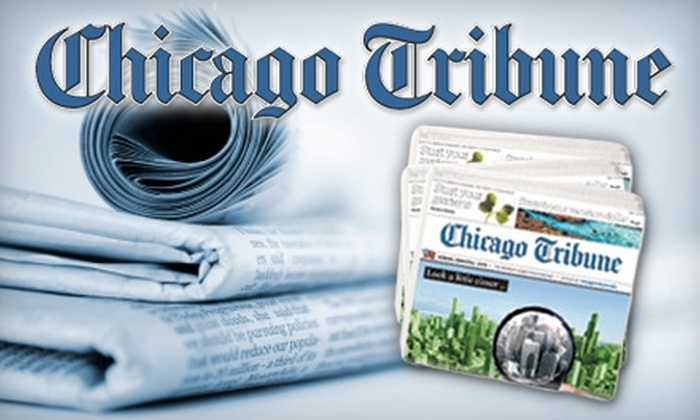 "The ""Chicago Tribune""  - Chicago: $26 for a One-Year Subscription to The ""Chicago Tribune"" ($52 Value)"