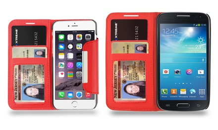 Xtreme Wallet Case for iPhone 6/6 Plus and Galaxy S4/S5 Smartphones from $11.99-$12.99