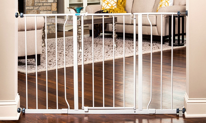Regalo Easy Open 50 Inch Extra Wide Walk Through Safety Baby Gate