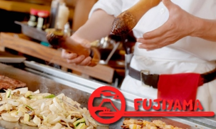 Fujiyama Steak House of Japan - Northern Woods: $12 for $30 Worth of Hibachi-Style Japanese Cuisine at Fujiyama Steak House of Japan
