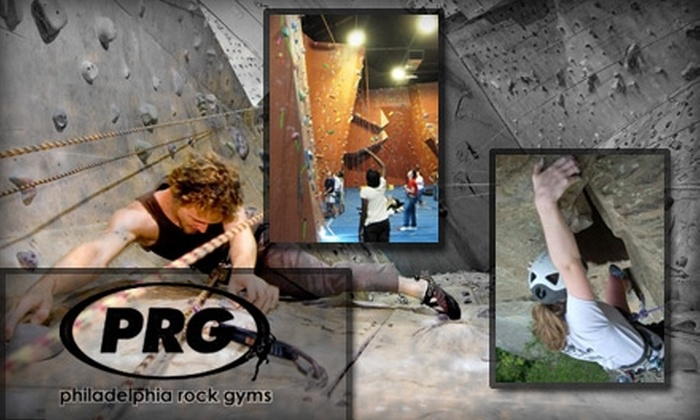Philadelphia Rock Gyms - Multiple Locations: $20 Introduction to Climbing Package at Philadelphia Rock Gyms ($42 Value)