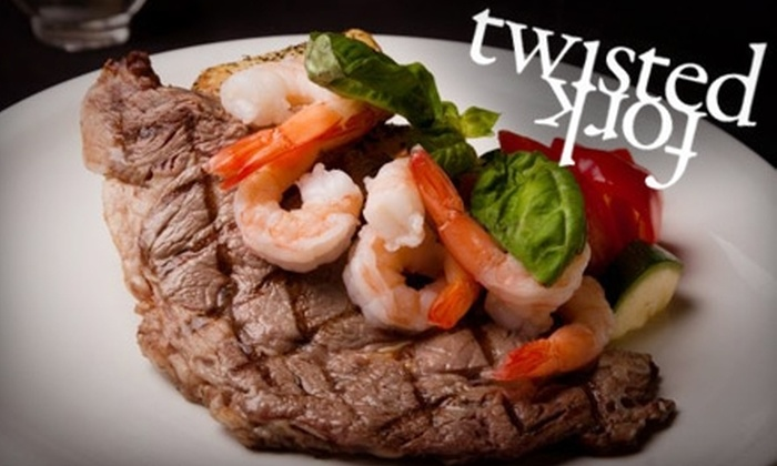 Twisted Fork - Garneau: $15 for $35 Worth of Inventive Fare & Drinks at Twisted Fork