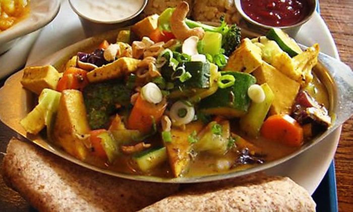 Dharma's Restaurant - Capitola: $10 for $20 Worth of Vegetarian Fare at Dharma's Restaurant