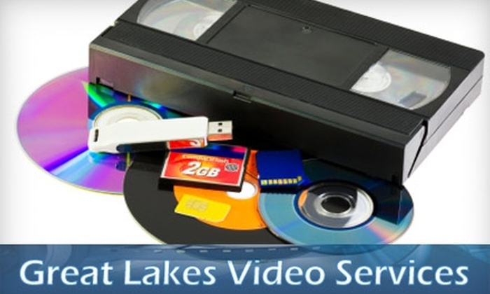 Great Lakes Video Services - Walker: $15 to Transfer One Home Videotape to DVD at Great Lakes Video Services
