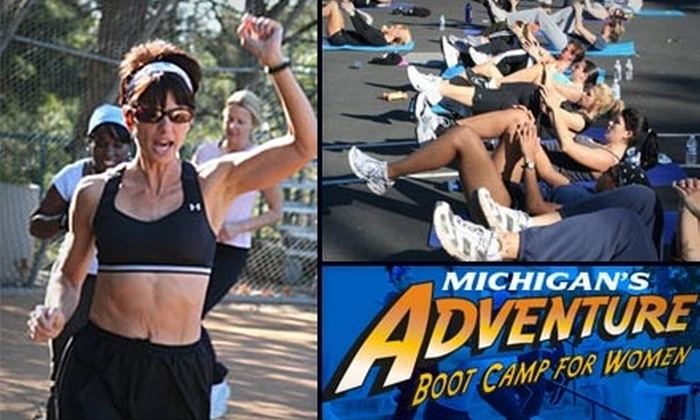 Michigan's Adventure Boot Camp for Women - Multiple Locations: Four Weeks of Boot Camp at Michigan's Adventure Boot Camp for Women (Up to $299 Value). Three Options Available.