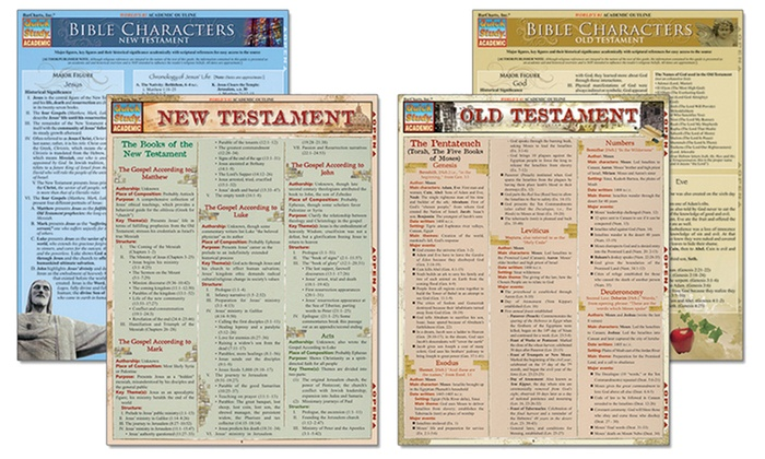 Learn the Bible Laminated Study-Guide Bundle (4-Piece)