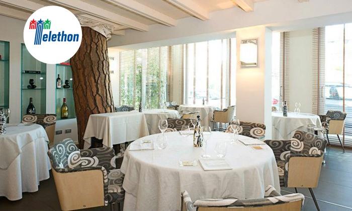 La Frasca (Cervia) - LA FRASCA (CERVIA): La Frasca, una stella Michelin - Menu di pesce sulla rotonda di Milano Marittima
