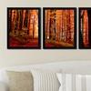 "56""x22"" Framed Contemporary Art Triptych"
