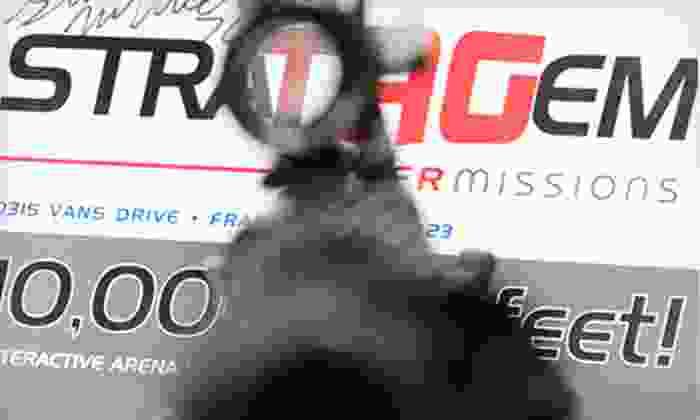 StraTAGem Laser Missions - Frankfort: 90 Minutes of Open-Play Laser Tag for 2, 4, 6, or 10 at Stratagem Laser Missions (Up to 60% Off)