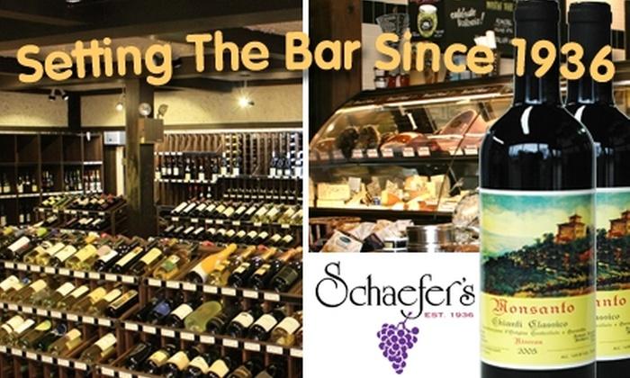 Schaefer's Wines - Skokie: $20 for $40 Worth of Wine, Beer, Spirits, and Gourmet Goods at Schaefer's Wines, Foods & Spirits