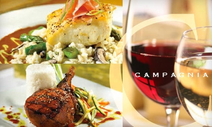 Campagnia Restaurant - Woodward Park: $15 for $30 Worth of Upscale Cuisine and Drink at Campagnia Restaurant
