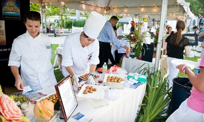 Flavor Palm Beach Kickoff Party - Downtown West Palm Beach: $17 for a Cuisine Tasting and Concert Outing at the Flavor Palm Beach Kickoff Party on August 26 (Up to $40 Value)