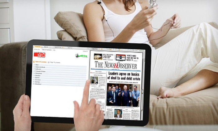 """The News & Observer: $29 for a One Year e-edition Subscription to """"The News & Observer"""" (a $65 Value)"""