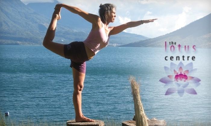 Lotus Centre - Downtown: $29 for Five Yoga Classes at Lotus Centre ($60 Value)