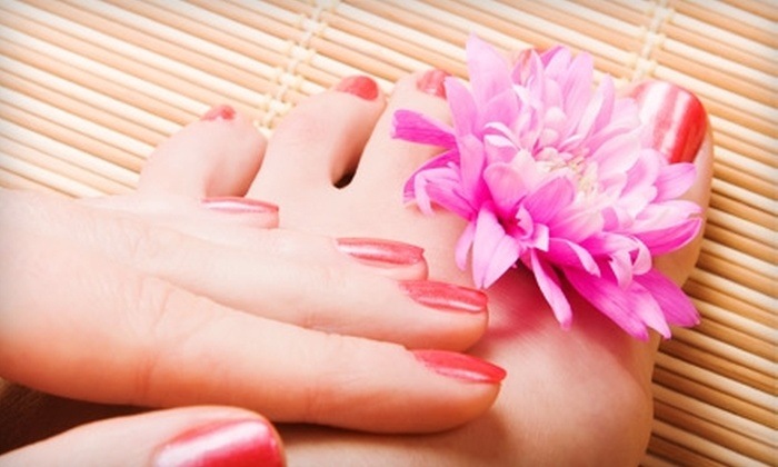 The Downtown Day Spa - The Downtown Day Spa of Santa Fe: Mani-Pedi or Green-Tea Facial at The Downtown Day Spa in Santa Fe