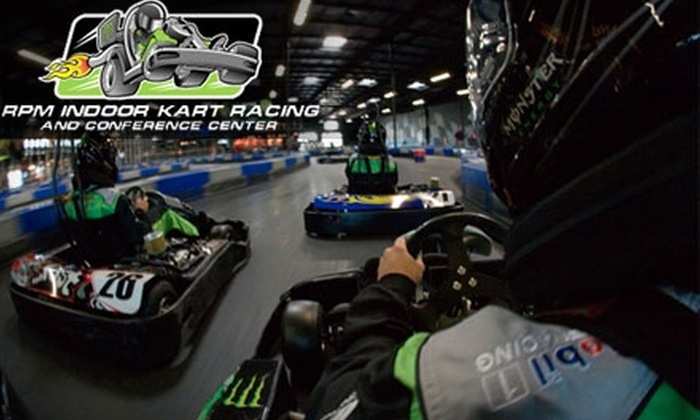 RPM Indoor Kart Racing - La Riviera: $20 for Two Hot Laps Races Plus a Head Sock at RPM Indoor Kart Racing (Up to $48 Value)