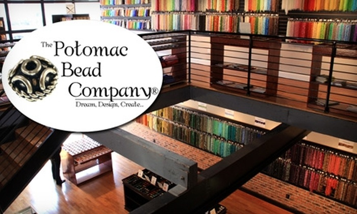 Potomac Bead Company - Multiple Locations: $15 for One Bead or Wire Class Plus $10 Toward Materials at Potomac Bead Company (Up to $35 Total Value)