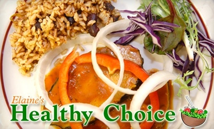 $12 Groupon to Elaine's Healthy Choice - Elaine's Healthy Choice in New Haven