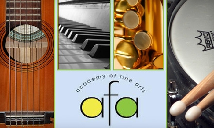Academy of Fine Arts - Lansdowne: $27 for Two Private 30-Minute Music Lessons at the Academy of Fine Arts ($55 Value)