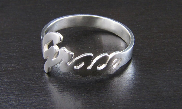 NameJewelrySpot: $34.99 for a Personalized Sterling Silver Name Ring from NameJewelrySpot ($119.99 Value)
