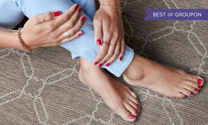 Pauline's Nail Spa: Shellac Manicure or Regular Mani-Pedi at Pauline's Nail Spa (36% Off)