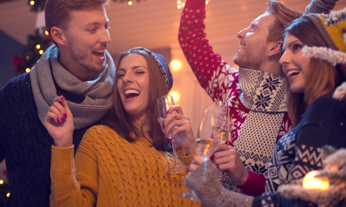 Around the Corner's Cheezy Christmas Sweater Party - Around the Corner Bar and Saloon: $19 for Admission for 2 to Around the Corner's Cheezy Christmas Sweater Party on December 23 ($41.99 Value)