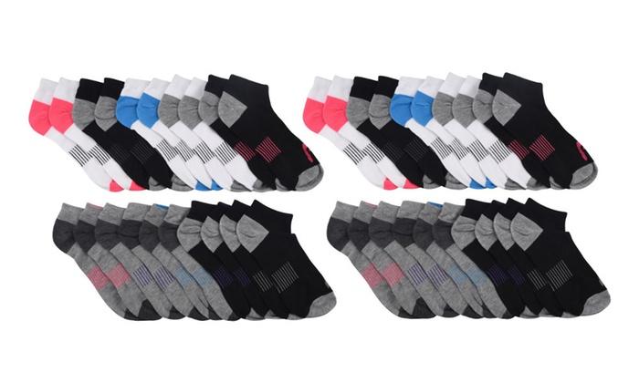 HEAD Women's Moisture-Wicking Athletic Socks (20 Pairs)