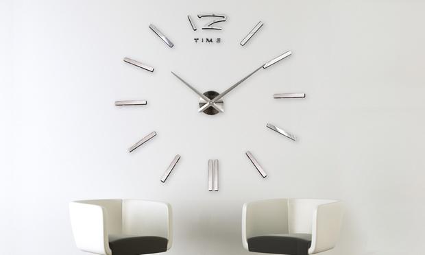 3D Vinyl Adhesive Wall Clock
