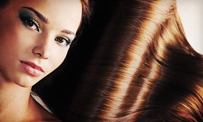 Lolamax Salon - East Bloomington: Haircut and Deep-Conditioning, or Brazilian Blowout or Keratin Complex Treatment at Lolamax Salon (Up to 62% Off)