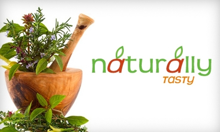 Naturally-Tasty - Upper East Side: $150 for At-Home Knife Skills or Vegetarian-Cooking Class for Two from Naturally-Tasty