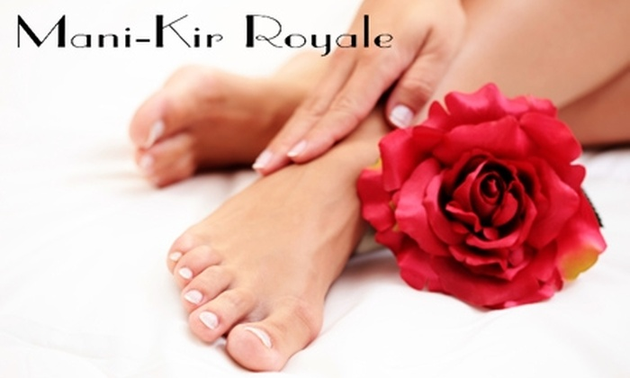 Mani-Kir Royale - Valley Village: $24 for Chocolate-Vanilla Pedicure and Traditional Manicure at Mani-Kir Royale