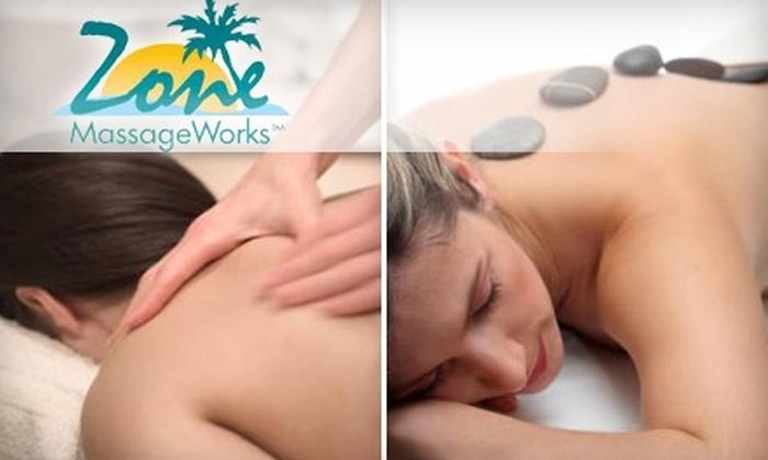 Zone Massage Works - Bellevue: $40 for a 60-Minute Zone Out Massage ($80 Value) or $80 for an 80-Minute Zone Out Massage ($160 Value) at Zone Massage Works