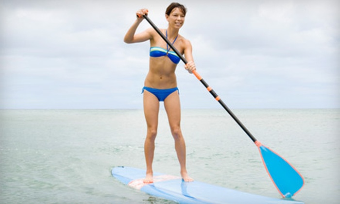 Clearwater Community Sailing Center - Sand Key: Standup-Paddleboard Lesson for One, Two, or Four at Clearwater Community Sailing Center (Up to 65% Off)