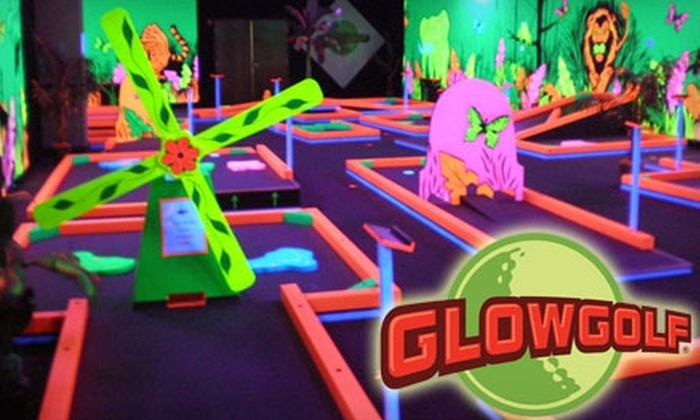 Glowgolf - Greendale: $6 for Two Child Passes ($12 Value) or $8 for Two Adult Passes ($16 Value) for Three Rounds of Mini-Golf at Glowgolf