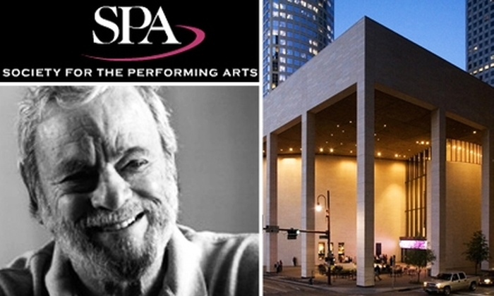 Society for the Performing Arts  - Downtown: $20 Ticket to an Evening with Stephen Sondheim at the Society for the Performing Arts, 10/25, 7:30 p.m.