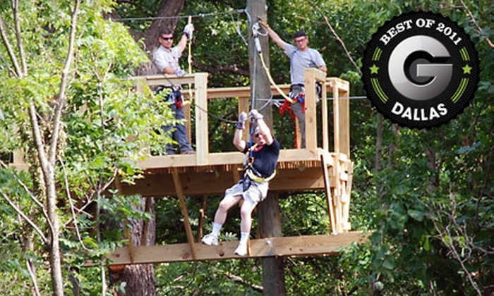 Your Adventure Inc. - Justin-Roanoke: $49 for an Amazing Race Zipline Challenge for Two at Your Adventure Inc. in Northlake ($110 Value)