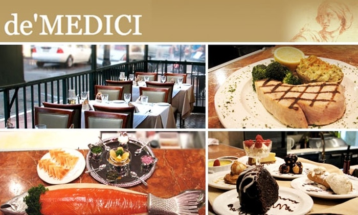 De Medici Ristorante Italiano - Gaslamp: $30 for $65 of Food and Drink at de'Medici Ristorante Italiano