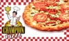 Champion Pizza - McCullough Hills: $15 for $30 Worth of Pizza, Wings, and Drinks at Champion Pizza in Henderson