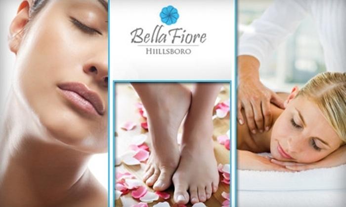 Bella Fiore Day Spa - Hillsboro: $50 Express Facial, Pedicure, and Swedish Massage at Bella Fiore Day Spa ($123 Value)