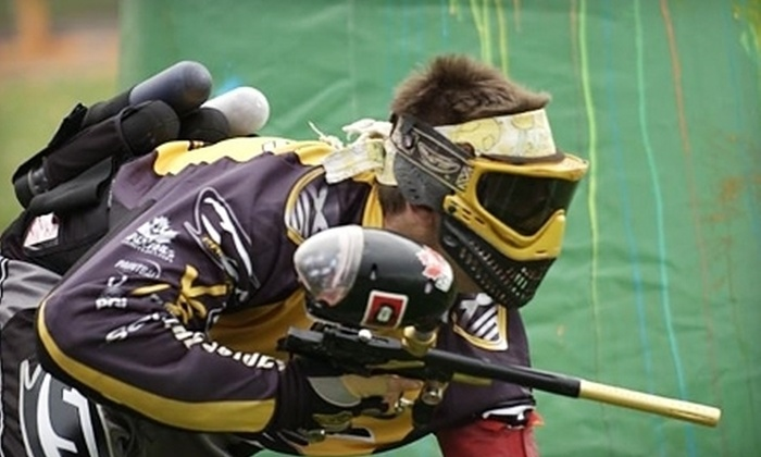 Davis Paintball - Davis: $20 for an All-Day Paintball Outing with Equipment Rental and 100 Paintballs at Davis Paintball ($40 Value)