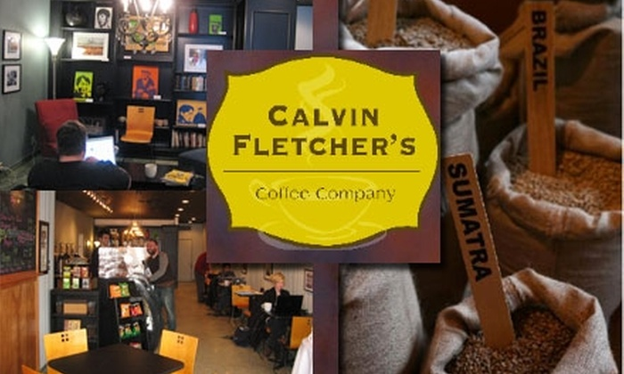 Calvin Fletcher's Coffee Company - Fletcher Place: $10 for 10 Regular-Sized Specialty Coffee Drinks at Calvin Fletcher's Coffee Company