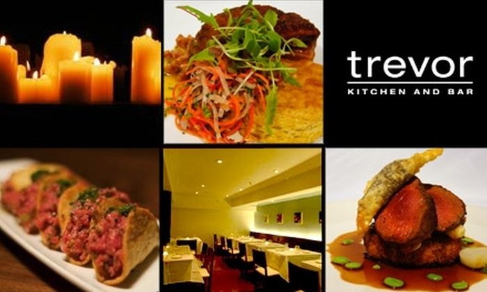 Trevor Kitchen and Bar - Toronto (GTA): $25 for $50 Worth of Sophisticated Comfort Fare and Drinks at Trevor Kitchen and Bar