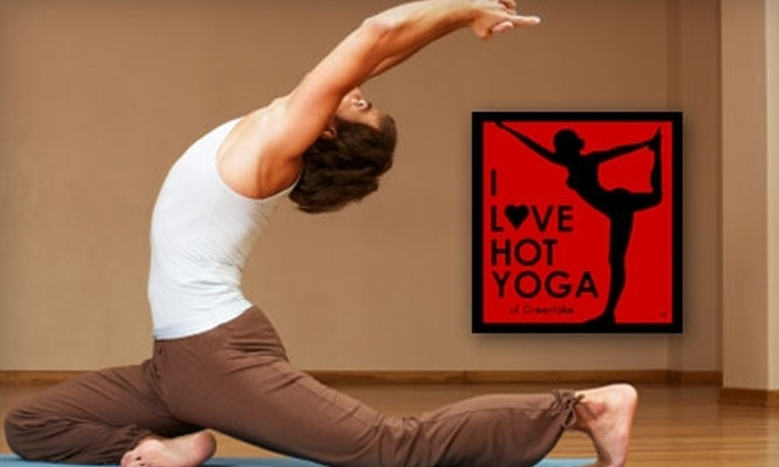 I Love Hot Yoga - Pacific: $30 for One Month of Unlimited Hot Yoga Classes at I Love Hot Yoga ($129 Value)