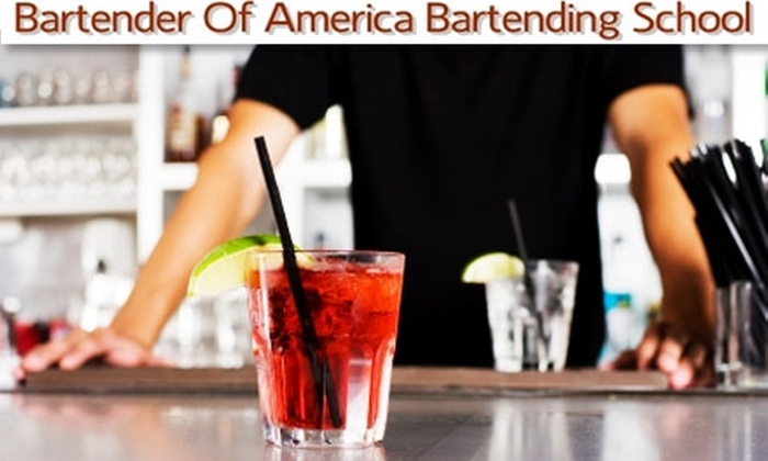 Bartender of America - College Park: $25 for a Cocktail Creations Amateur Bartending Class at Bartender of America ($50 Value)