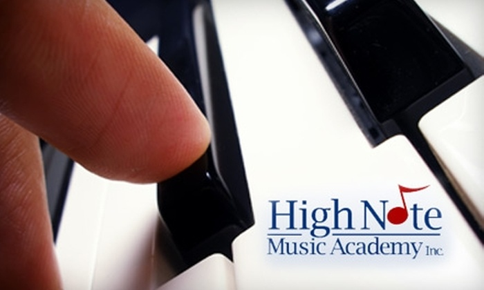 High Note Music Academy - Industrial Park: $50 for One Month of Private Music Lessons ($100 Value) or  $34 for One Month of Group Music Lessons ($68 Value) at High Note Music Academy